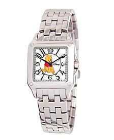 Disney Winnie Women's Silver Alloy Square Watch