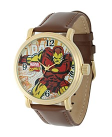 Marvel Iron Man Men's Vintage Gold Alloy Watch