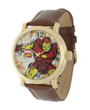Marvel Iron Man Men's Vintage Gold Alloy Watch
