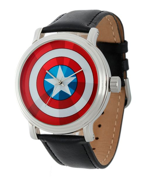 ewatchfactory Marvel Captain America Men's Vintage Silver Shiny Alloy Watch