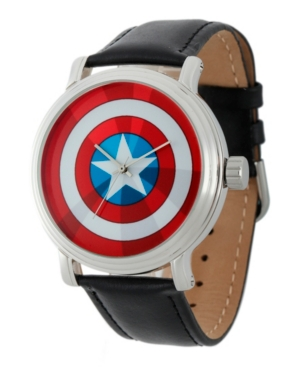Marvel Captain America Men's Vintage Silver Shiny Alloy Watch