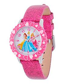 Disney Princess Girls' Stainless Steel Time Teacher Watch