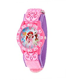 Disney Princess Girls' Pink Plastic Time Teacher Watch