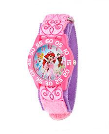 Disney Princess Girls' Pink Plastic Time Teacher Watch