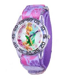 Disney Tinker Bell Girls' Plastic Time Teacher Watch