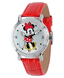 Disney Minnie Mouse  Women's Shiny Silver Vintage Alloy Watch