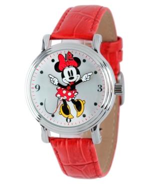 Disney Minnie Mouse Women's Shiny Silver Vintage Alloy Watch