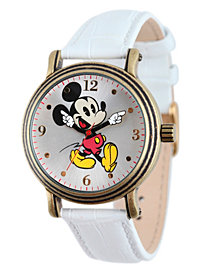 Disney Mickey Mouse Women's Antique Gold Vintage Alloy Watch