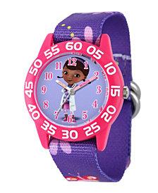 Disney Doc Mcstuffins Girls' Pink Plastic Time Teacher Watch