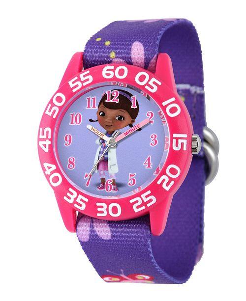 ewatchfactory Disney Doc Mcstuffins Girls' Pink Plastic Time Teacher Watch