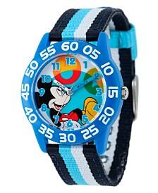 Disney Mickey Mouse Boys' Blue Plastic Time Teacher Watch