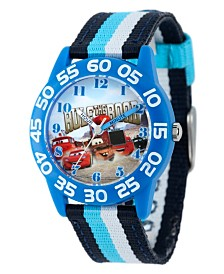 Disney Cars Boys' Blue Plastic Time Teacher Watch