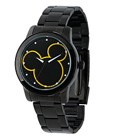 Disney Mickey Mouse Men's Black Alloy Watch