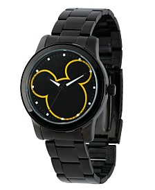 Disney Mickey Mouse Men's Black Alloy Watch