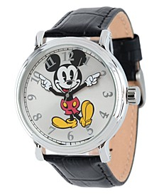 Disney Mickey Mouse Men's Shiny Silver Vintage Alloy Watch