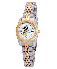 Disney Mickey Mouse Women's Two Tone Silver and Gold Alloy Watch