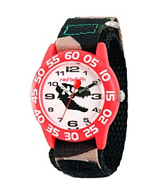 Red Balloon Dinosaur Boys' Red Plastic Time Teacher Watch