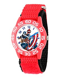 Marvel's Avenger Assemble: Captain America Boys' Red Plastic Time Teacher Watch