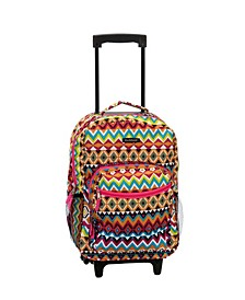 """Tribal 17"""" Rolling Backpack"""