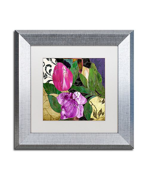 "Trademark Global Color Bakery 'Glassberry Iii' Matted Framed Art, 11"" x 11"""