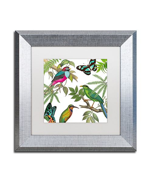 "Trademark Global Color Bakery 'Walking On Air Ii' Matted Framed Art, 11"" x 11"""