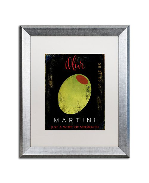 "Trademark Global Color Bakery 'Olive Martini I' Matted Framed Art, 16"" x 20"""