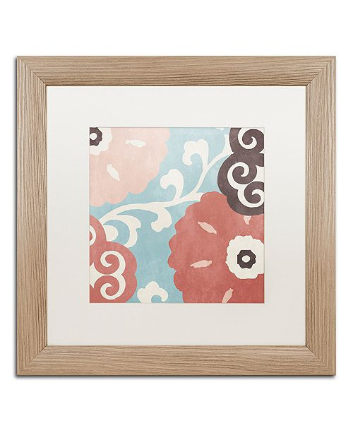 "Trademark Global Color Bakery 'Umbrella Skies Iii' Matted Framed Art, 16"" x 16"""
