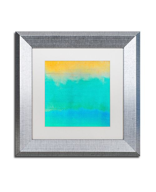 """Trademark Global Color Bakery 'Gradients Ii' Matted Framed Art, 11"""" x 11"""""""