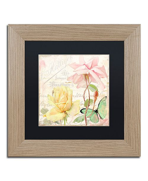 "Trademark Global Color Bakery 'Florabella Iv' Matted Framed Art, 11"" x 11"""