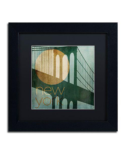 """Trademark Global Color Bakery 'New York' Matted Framed Art, 11"""" x 11"""""""