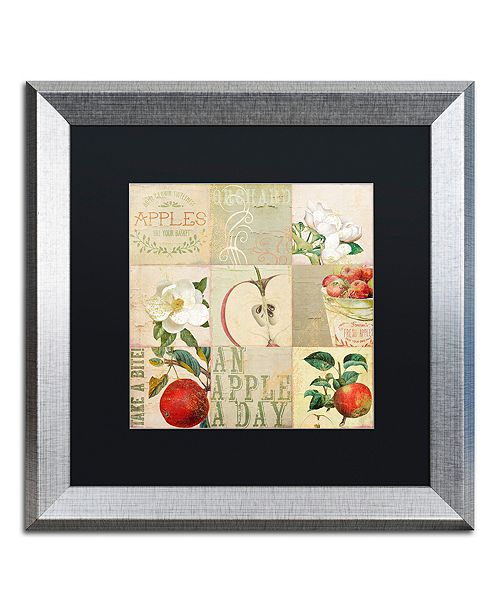 """Trademark Global Color Bakery 'Apple Blossoms Iii' Matted Framed Art, 16"""" x 16"""""""