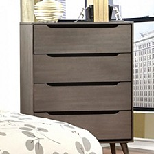 Mid-Century Modern Style Wooden Chest, Gray