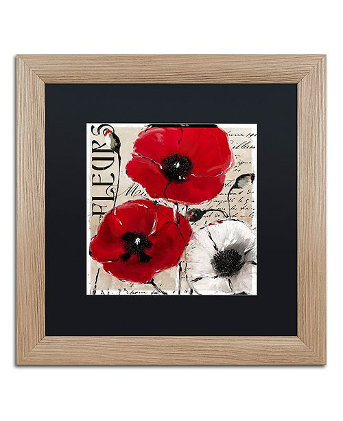 """Trademark Global Color Bakery 'Rouge One' Matted Framed Art, 16"""" x 16"""""""