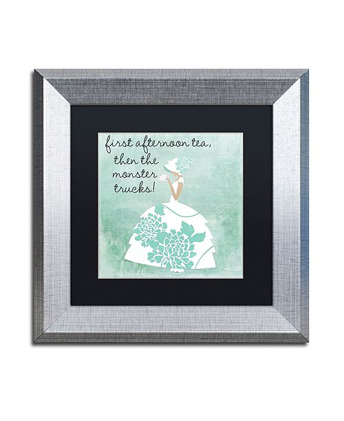 "Trademark Global Color Bakery 'Southern Belles One' Matted Framed Art, 11"" x 11"""