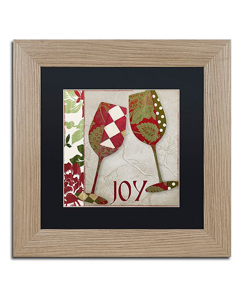 "Trademark Global Color Bakery 'Holiday Cheer One' Matted Framed Art, 11"" x 11"""
