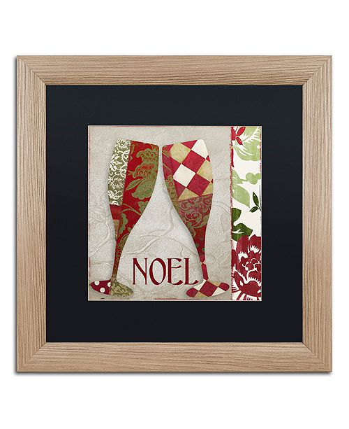 """Trademark Global Color Bakery 'Holiday Cheer Two' Matted Framed Art, 16"""" x 16"""""""