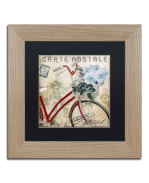 "Trademark Global Color Bakery 'Postale Paris Ii' Matted Framed Art, 11"" x 11"""