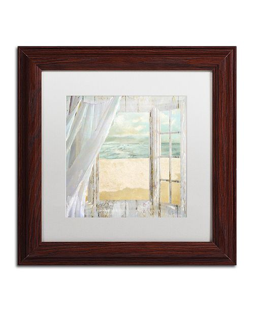 "Trademark Global Color Bakery 'Summer Me I' Matted Framed Art, 11"" x 11"""
