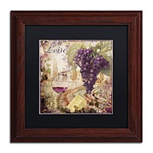 "Color Bakery 'Wine Country Ii' Matted Framed Art, 11"" x 11"""