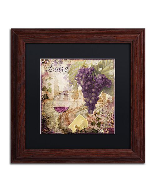 "Trademark Global Color Bakery 'Wine Country Ii' Matted Framed Art, 11"" x 11"""