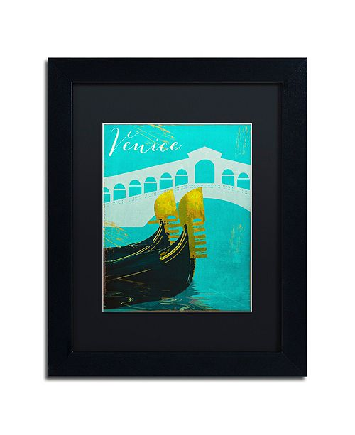 """Trademark Global Color Bakery 'Retro Cities Ii' Matted Framed Art, 11"""" x 14"""""""