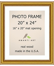 """Amanti Art Townhouse Gold 20"""" X 24"""" Matted to 16"""" X 20"""" Opening Wall Picture Photo Frame"""