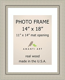 """Amanti Art Romano Silver 14"""" X 18"""" Matted to 11"""" X 14"""" Opening Wall Picture Photo Frame"""