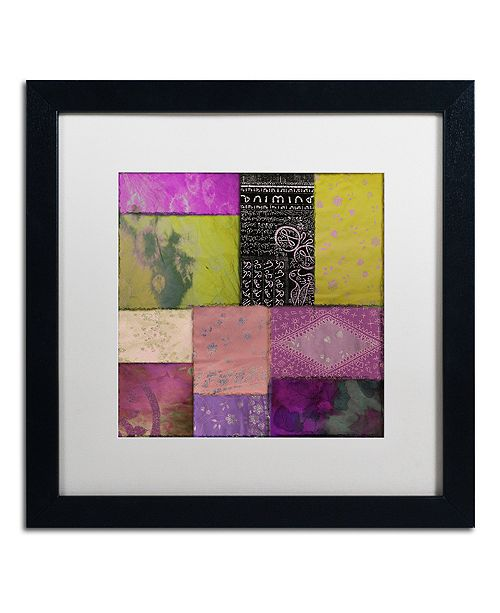 "Trademark Global Color Bakery 'Afrikan Batik Ii' Matted Framed Art, 16"" x 16"""
