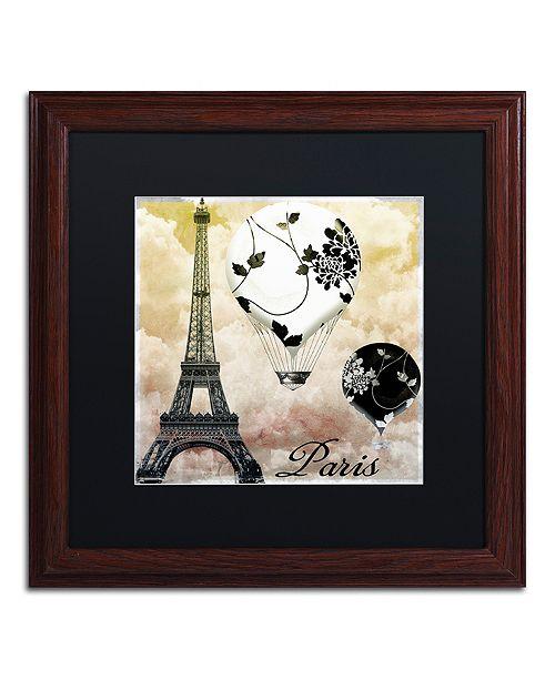 "Trademark Global Color Bakery 'Ceil Jaune Ii' Matted Framed Art, 16"" x 16"""