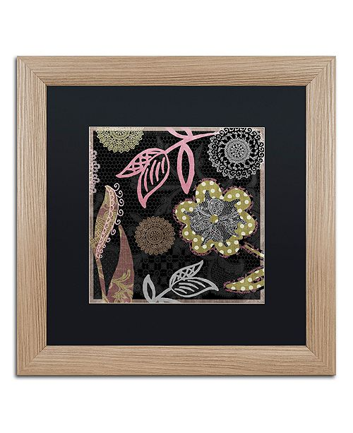 "Trademark Global Color Bakery 'Daisy Cartwheels Ii' Matted Framed Art, 16"" x 16"""