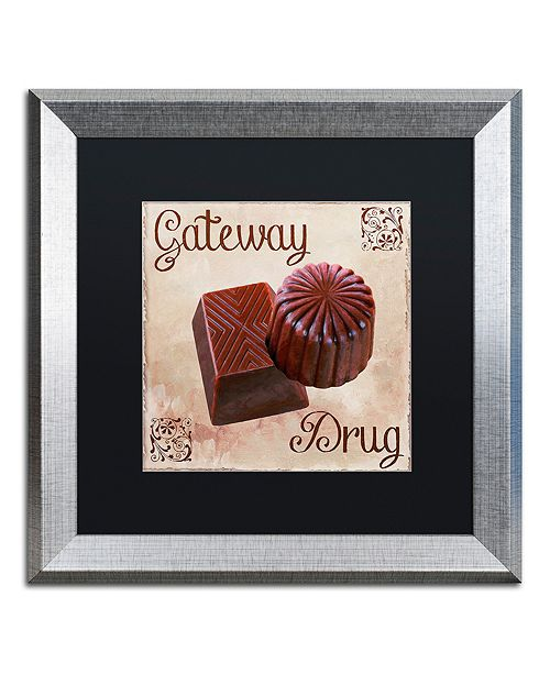 """Trademark Global Color Bakery 'Chocolate Therapy Ii' Matted Framed Art, 16"""" x 16"""""""