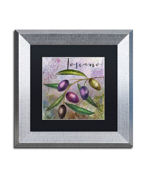 "Trademark Global Color Bakery 'Olivia Ii' Matted Framed Art, 11"" x 11"""