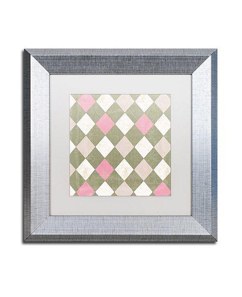 "Trademark Global Color Bakery 'Hyacinth Iii' Matted Framed Art, 11"" x 11"""
