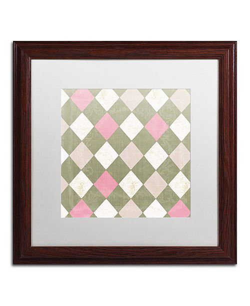 "Trademark Global Color Bakery 'Hyacinth Iii' Matted Framed Art, 16"" x 16"""